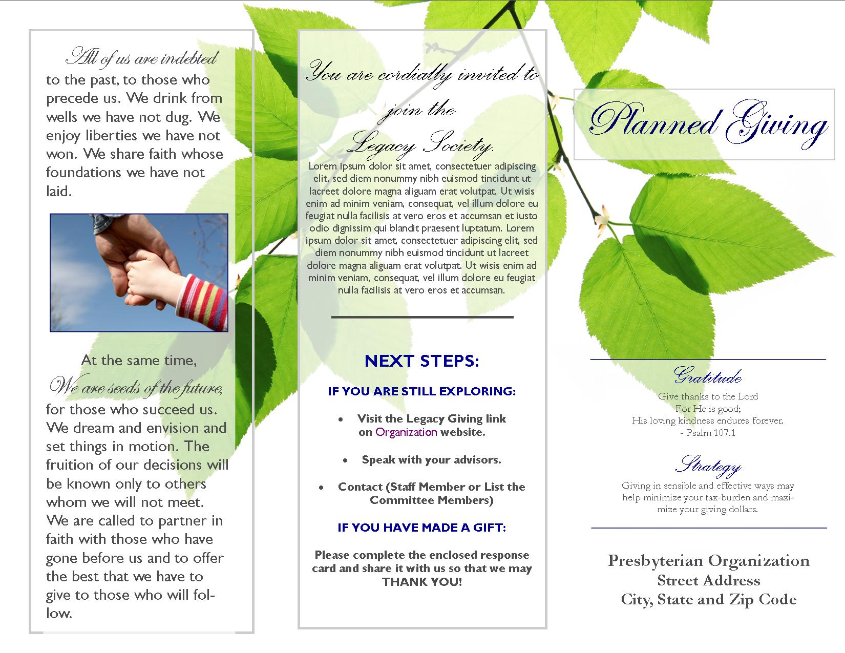 planned giving and endowment brochure general template